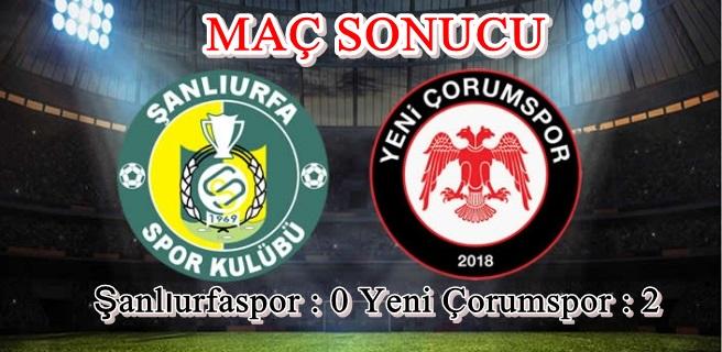 Yeni Çorumspor Şen Dönüyor : 0-2