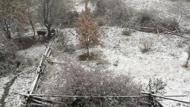 Mevsimin İlk Kar'ı Yağdı