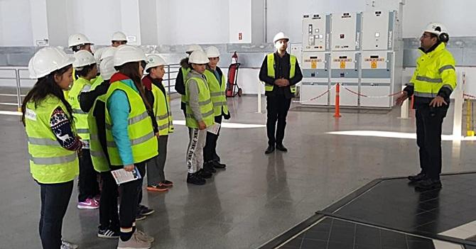 Hacıhamzalı Öğrenciler Hidroelektrik Santralini Gezdi