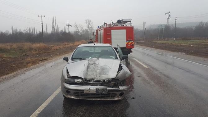 İskilip'te Trafik Kazası: 1 Yaralı