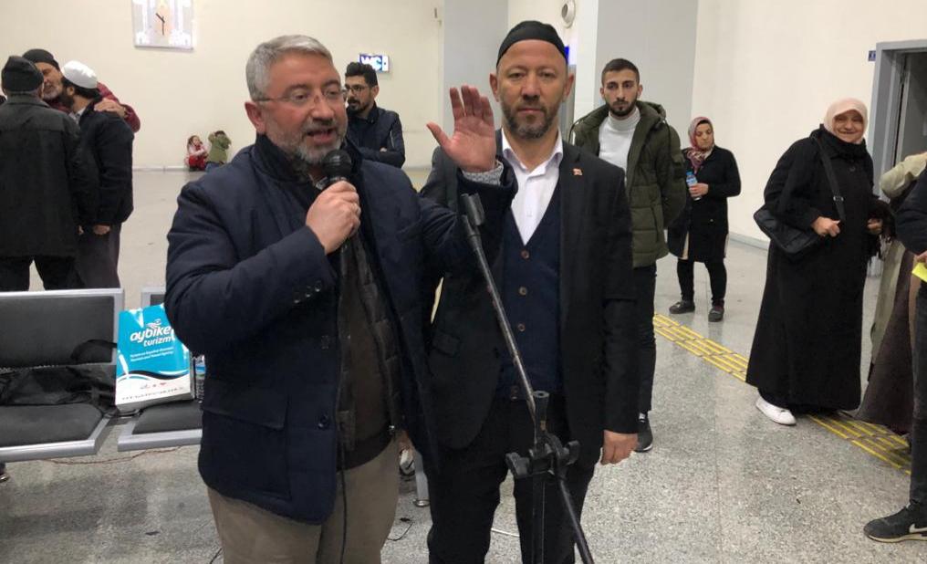Başkan Aşgın, Umrecileri Kutsal Topraklara Uğurladı