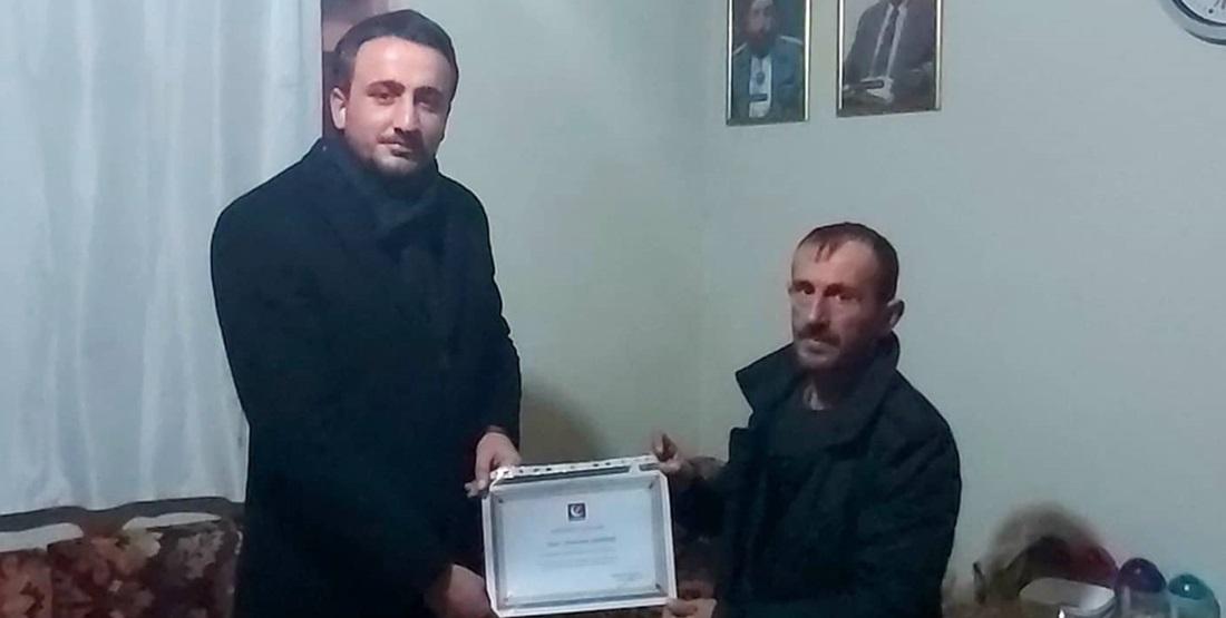 Yeniden Refah Partisi Karaca Köy'e Temsilci Atadı