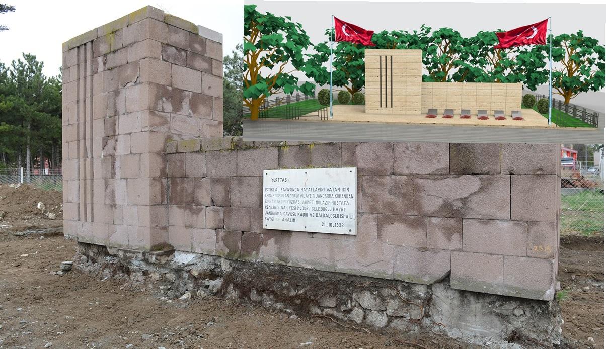 Şehitler Anıtında Düzenleme Yapılıyor
